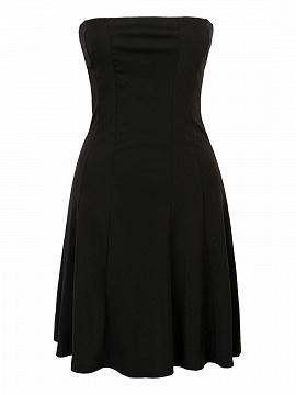 Black Strapless Mini Skater Dress
