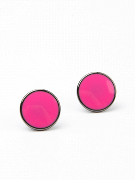 5793bb39cc67e Hot Pink Stud Earrings - Choies.com