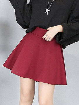 Hot Pink High Waist Skater Mini Skirt