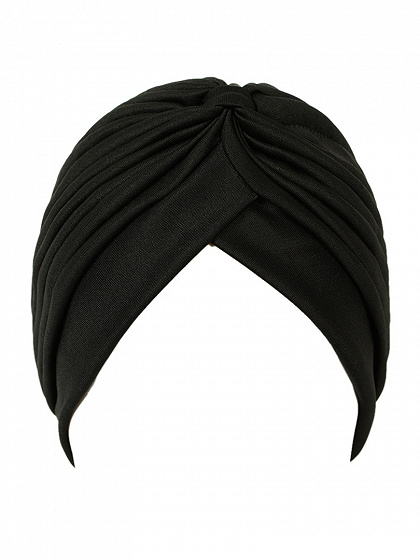 Black Turban Hat