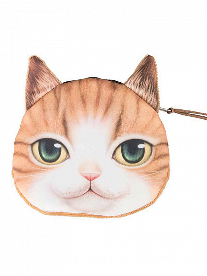 Tan Little Nose Smile American Shorthair Cat Coin Purse