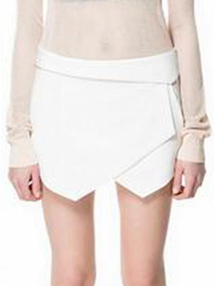 Blanc Asymétrique Hem Tulip jupes de femme