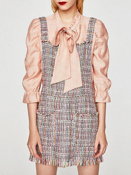 Polychrome Pocket Wool Blend Overall Dress