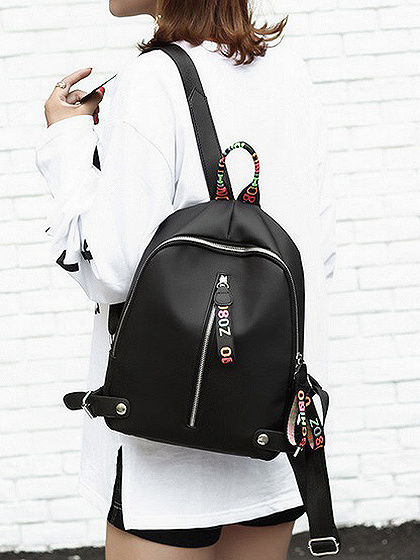 Polychrome Zip Detail Backpack