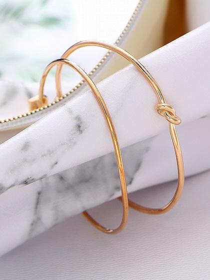 Gold Alloy Arrows Knot Opening Women Bracelet