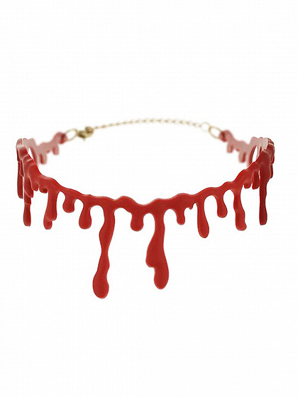 Red Halloween Bloodstain Necklace