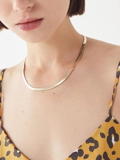 Golden Snake Bones Necklace