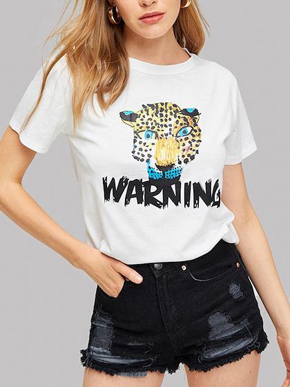 White Leopard Print T-shirt