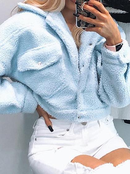 Blue Long Sleeve Jacket