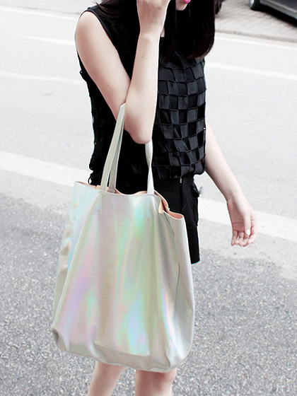 Hologram PU Shopper